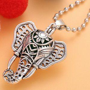 Aroma diffuser elephant pendant , necklace,